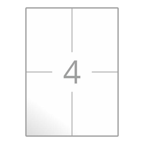 Samolepilne etikete na poli A4 (105x148 mm)