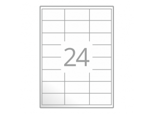 Samolepilne etikete na poli A4 (64,6x33,8 mm)