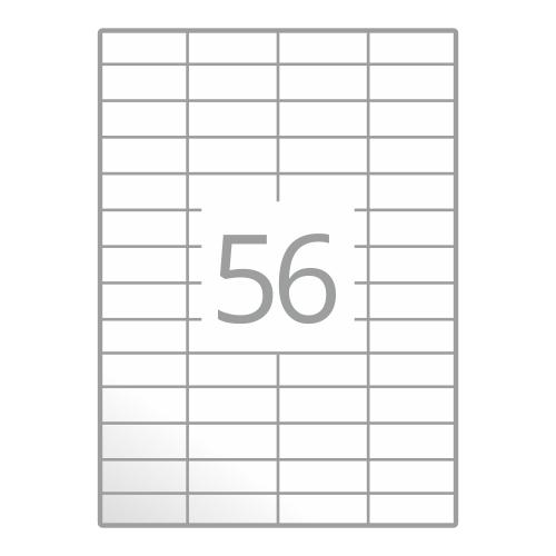 Samolepilne etikete na poli A4 (52,5x21,2 mm)