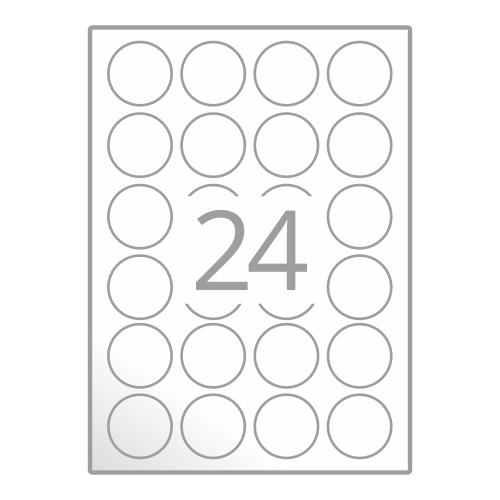 Samolepilne etikete na poli A4 (Ø40 mm)