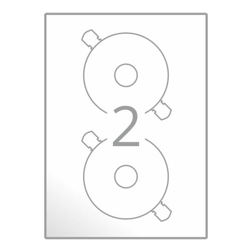 Samolepilne etikete na poli A4 (CD Ø117 mm)