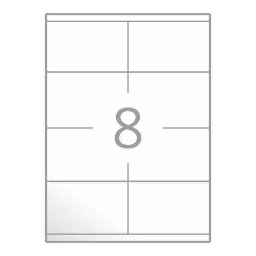Samolepilne etikete na poli A4 (105x70 mm)
