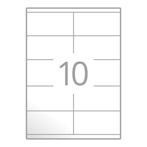 Samolepilne etikete na poli A4 (105x57 mm)