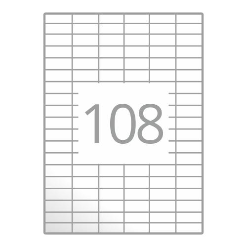Samolepilne etikete na poli A4 (30x15 mm)