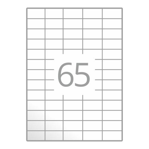 Samolepilne etikete na poli A4 (38x21,2 mm)