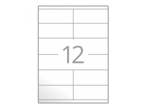 Samolepilne etikete na poli A4 (105x48 mm)