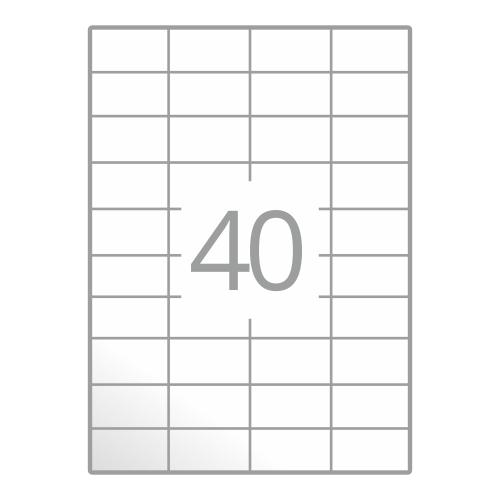 Samolepilne etikete na poli A4 (48,5x25,4 mm)