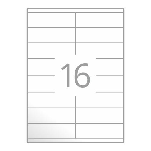 Samolepilne etikete na poli A4 (105x35 mm)