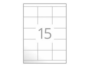 Samolepilne etikete na poli A4 (70x50,8 mm)