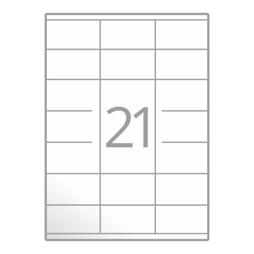 Samolepilne etikete na poli A4 (70x41 mm)