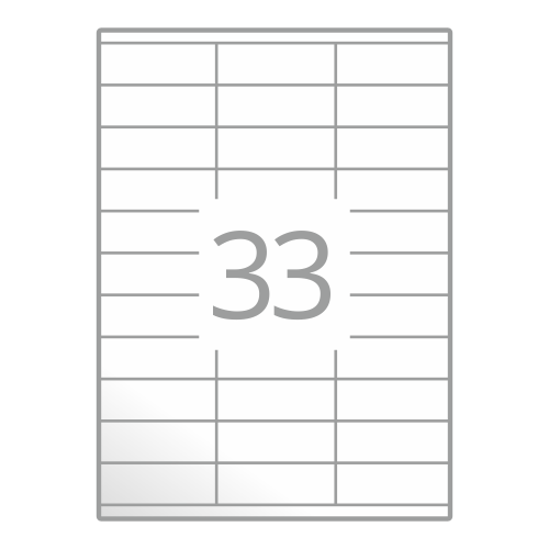 Samolepilne etikete na poli A4 (70x25,4 mm)