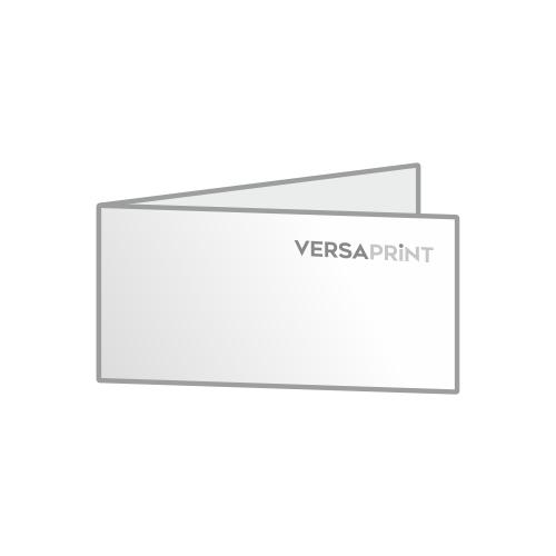 Vabilo 2x 1/3 A4 ležeči V-zgib (210x99 mm), 4-strani, odprt: 420x99 mm